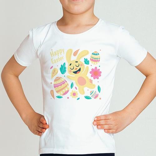 Tricou personalizat pentru copii cu ilustratie de Paște, 01