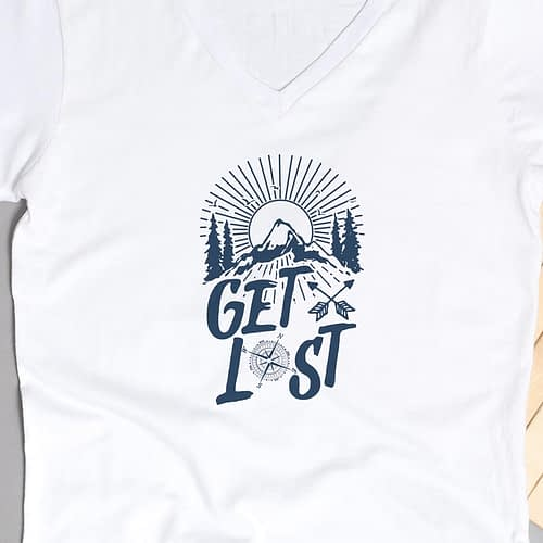 Tricou Personalizat cu ilustratie si text Get Lost, 02