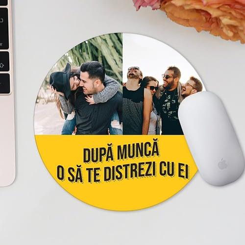 Mouse pad personaliza cu 2 poze si text, 03