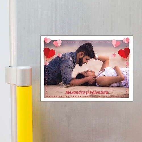 magnet personalizat cu inimioare si text 02