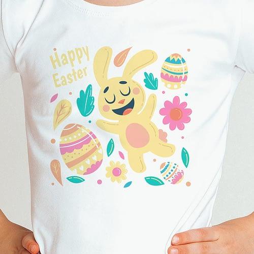 Tricou personalizat pentru copii cu ilustratie de Paște, 02