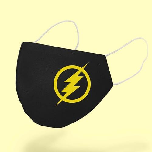 Masca textila Personalizata cu simbolul lui Flash, 02