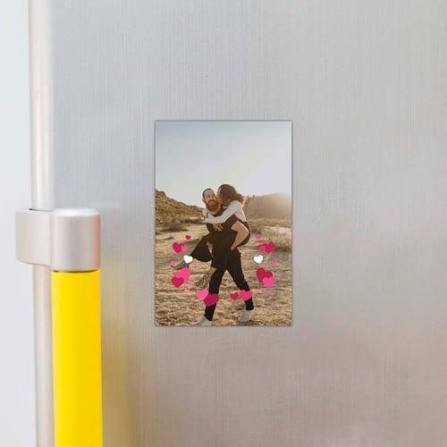 Magnet foto personalizat cu o poza si inimioare, 10x15, 02