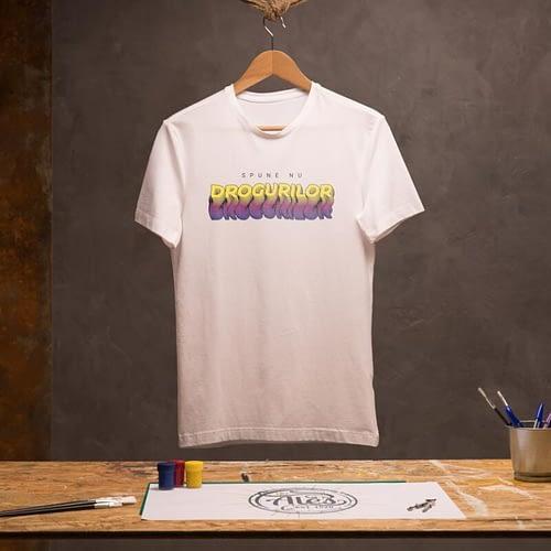 tricou personalizat cu text, spunde nu drogurilor, 04