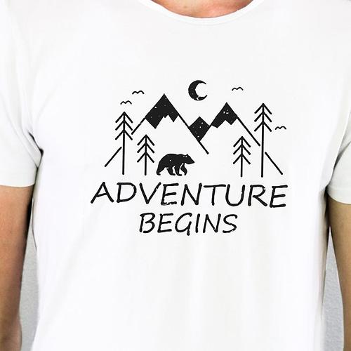 Tricou Personalizat Adventure Begins, 02