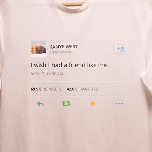 tricou unisex personalizat cu tweet-ul lui Kanye west, 03