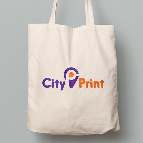 Sacosa textila personalizata cu logo-ul City Print, 02