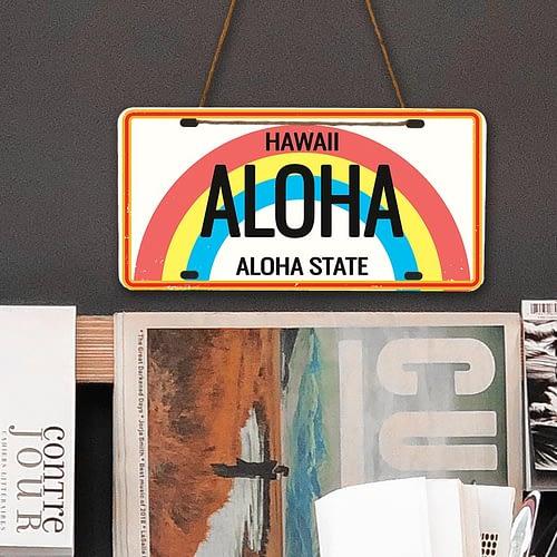 Placuta auto personalizata tip SUA, Aloha, 02