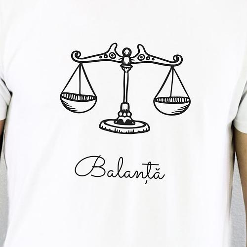 Tricou personalizat cu ilustratie zodie balanta, 02