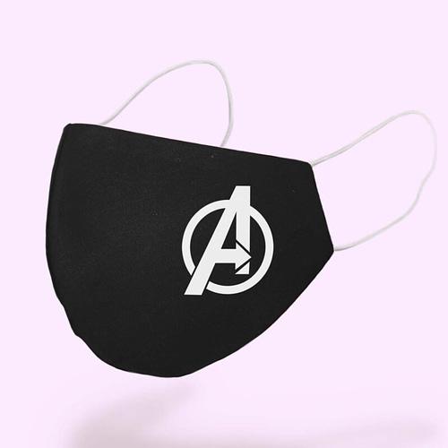 Masca textila personalizata cu emblema Avengers, 02