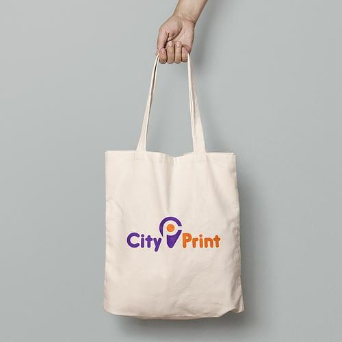 Sacosa textila personalizata cu logo-ul City Print, 03