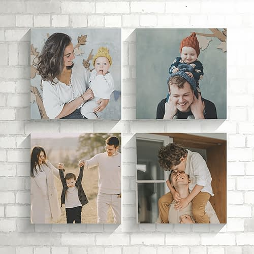 Set de 4 tablouri canvas personalizate