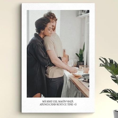 Tablou canvas personalizat cu poza si text