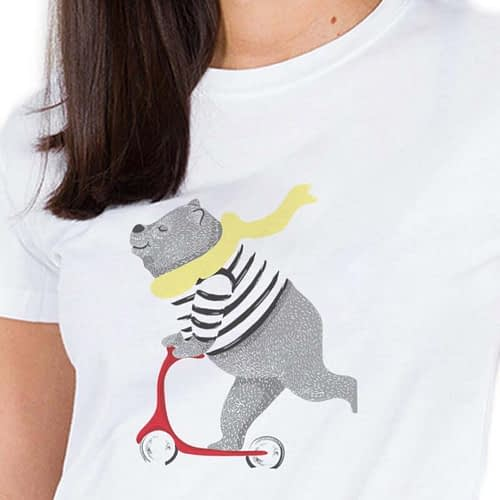 Tricou Urs pe trotineta 03