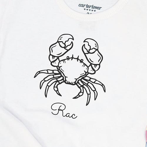 Tricou Personalizat cu ilustratie zodiac rac, 02