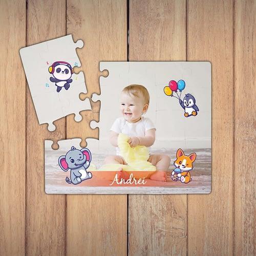 Puzzle personalizat pentru copii, cu ilustratii si text
