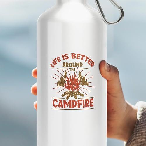Bidon Sport Personalizat cu Campfire, reutilizabil si rezistent, 03