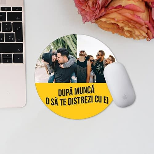 Mouse pad personaliza cu 2 poze si text, 02