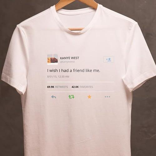tricou unisex personalizat cu tweet-ul lui Kanye west, 02