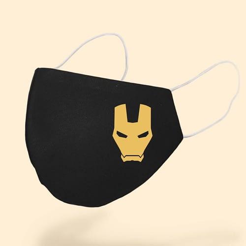 Masca Textila Personalizata cu simbolul lui Iron Man, 02