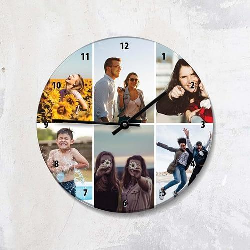 ceas personalizat cu 6 poze