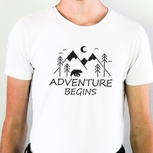 Tricou Personalizat Adventure Begins, 01