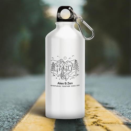 Bidon Personalizat cu AdventuringTogheter, reutilizabil si rezistent, 500 ml, 02