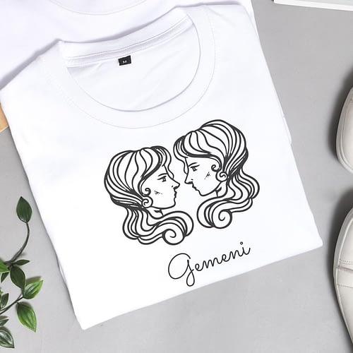 Tricou Personalizat cu ilustratie zodia gemeni, 01