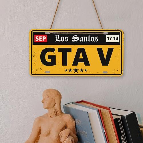 Placa auto tip SUA cu GTA 5 - Los santos, 02