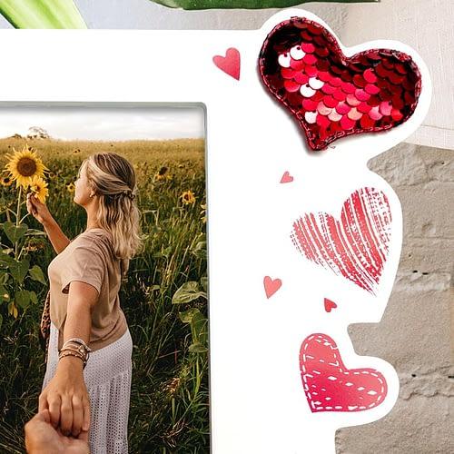 Tablou Personalizat cu poza si rama in forma de inimioare, 03