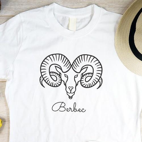 Tricou personalizat cu zodia berbec, 01