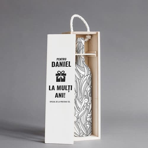 Cutie de vin personalizata cu text onomastic, 03