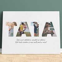 Tablou Canvas Personalizat pentru Tata, 4 poze si mesaj, CNV017