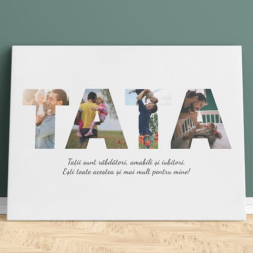 tablou canvas personalizat cu 4 poze, cadou special pentru tati si tatici, CNV017