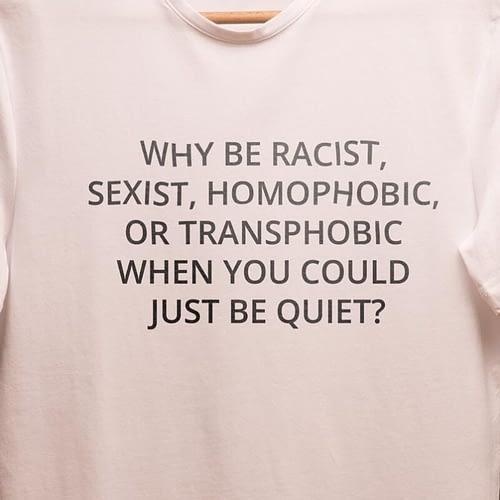 tricou unisex personalizat cu why be racist.., 04
