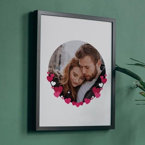 Tablou personalizat, o poza cu inimioare