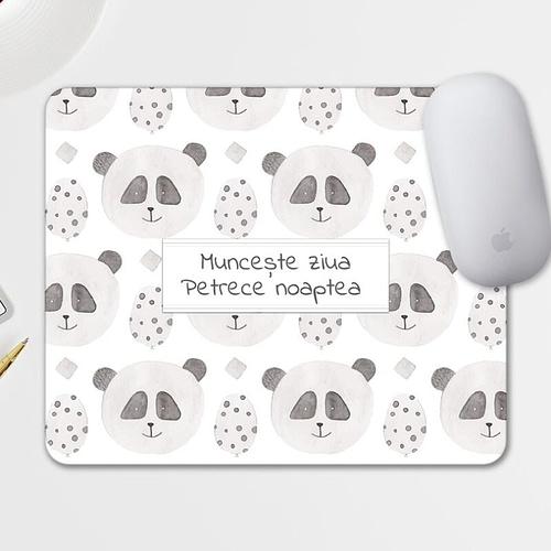 Mouse pad personalizat cu text si fundal cu panda, 03