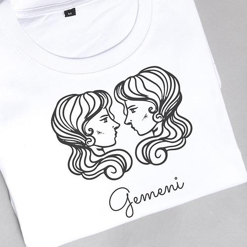 Tricou Personalizat cu ilustratie zodia gemeni, 02