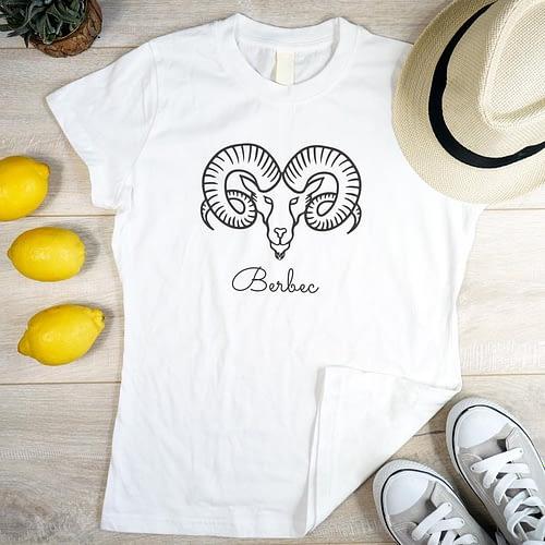 Tricou personalizat cu zodia berbec, 02
