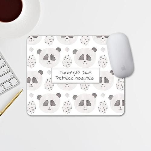 Mouse pad personalizat cu text si fundal cu panda, 02