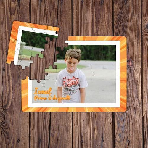 Puzzle Personalizat Magnetic, o poza cu rama creativa si text