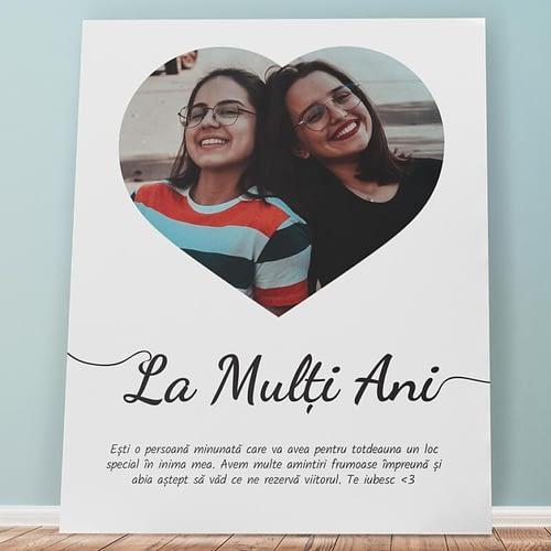 Tablou canvas personalizat cu poza si mesaj