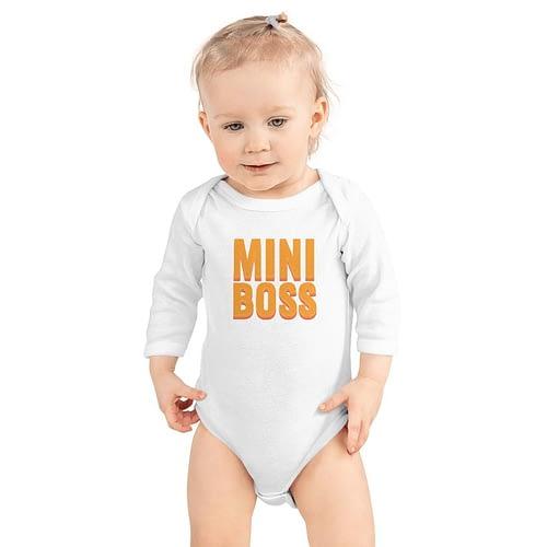 Body Bebeluș Personalizat cu text Mini Boss, MB1038