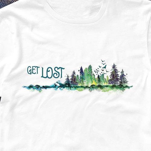 Tricou personalizat cu peisaj si text, 02