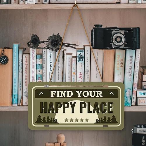 Placuta auto personalizata tip SUA, Find your Happy place, 02
