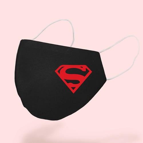 Masca textila Personalizata cu simbolul lui Superman, 02