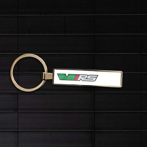 Breloc auto personaliza cu logo skoda rs 02